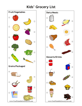 Toddler Food List