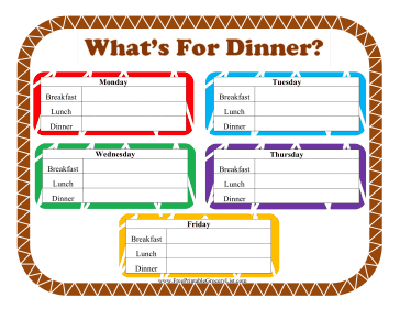 Printable What's For Dinner