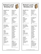 Smart Grocery Lists With Items And Categories